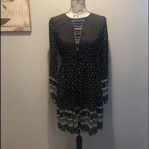 Boutique Mixed Print Dress